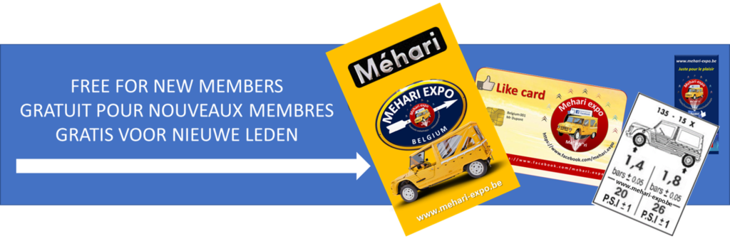 mehari expo member membre lid